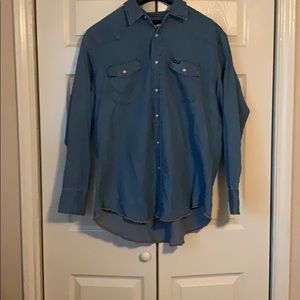 Wrangler button down shirt XXL